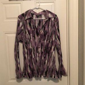 Purple and black dress shirt